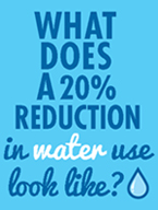 What does 20% reduction in water use look like?